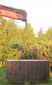 Zbiornik betonowy na szambo.Betonowe zbiorniki na deszczówkę i szamba