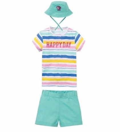 Летний костюм, комплект, футболка, платье, 104, lupilu, hm, next