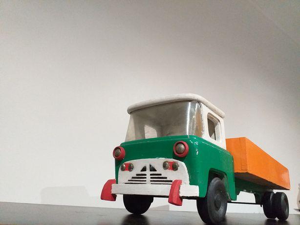 Antigo brinquedo madeira português peça rara de coleção