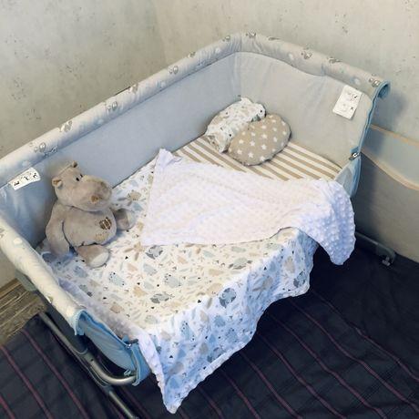 Кроватка chicco next 2 me + ПОСТЕЛЬ В ПОДАРОК
