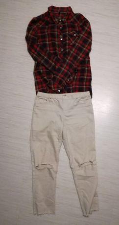Zestaw koszula spodnie bluza Reserved i sinsay