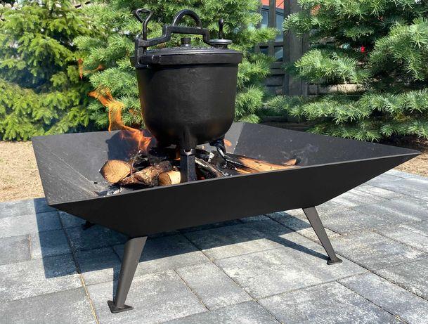 Duże Palenisko Ogrodowe Solidne 90 cm na ognisko grill Blacha 3 mm !