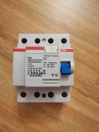 Wyłącznik Ochronny Różnicowoprądowy F364 40A; ABB