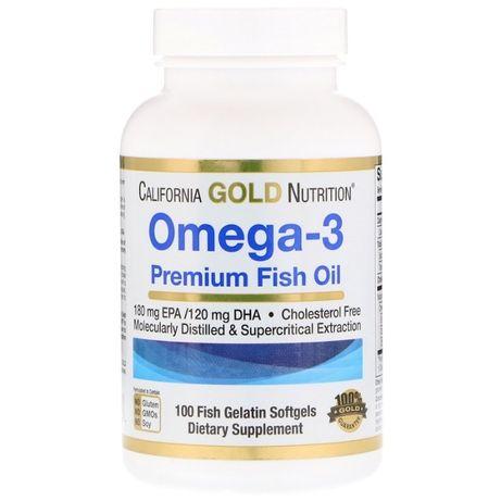Омега-3 California Gold Nutrition премиум-класса. Рыбий жир Америка