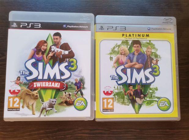 Zestaw 2 części gry sims na ps3 obie PL zwierzęta playstation