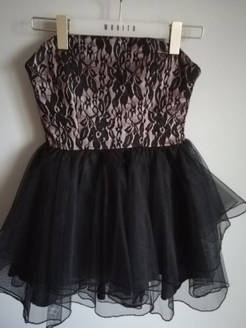 Tiulowa sukienka #blackdress