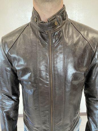 Куртка кожаная косуха Италия новая коллекция натуральная кожа M L