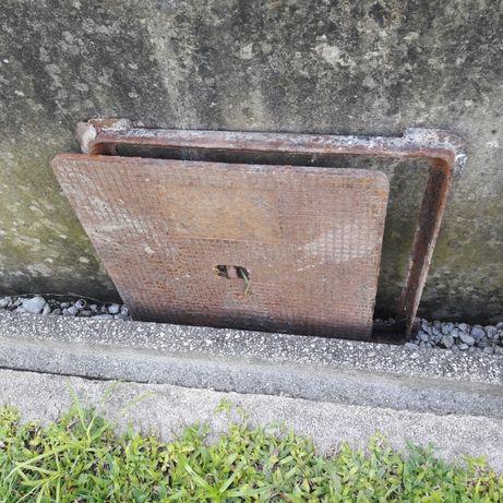 Tampa de saneamento em ferro