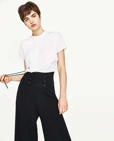Zara | Top Cropped Branco-Marfim | Tamanho M | Novo C/ etiqueta