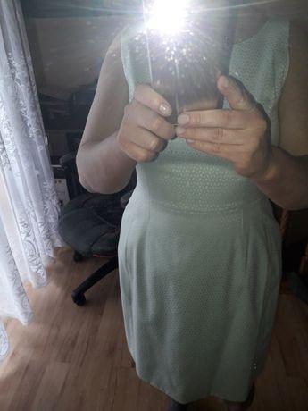 seledynkowa sukienka 44