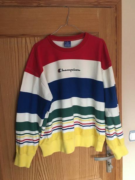 champion bluza paski striped logo
