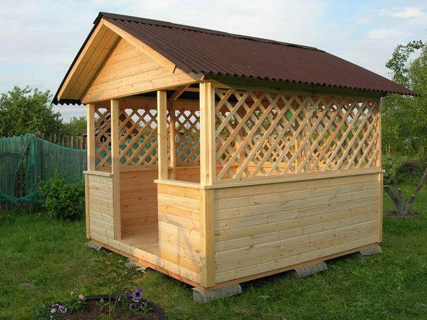 Деревянная мебель под заказ Беседки, Дверь, столы пристройки к дом