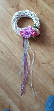 Wianek na drzwi - jasny fiolet