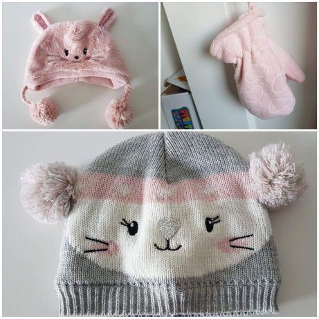 Czapki i rękawiczki zimowe dla dziewczynki