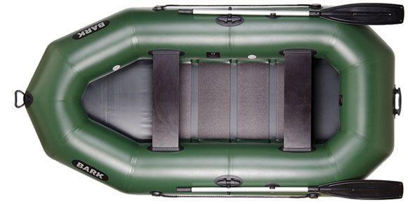 Лодка гребная новая, надувная, двухместная Bark В-270, човен надувний.