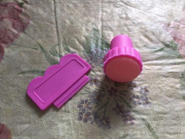 Стампер (штамп) мини/ большой двусторонний для ногтей покрытие гель ла