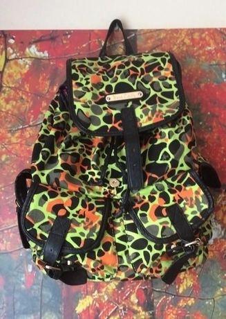 Piękny uroczy plecak neon panterka wzory anne smith A4 must have