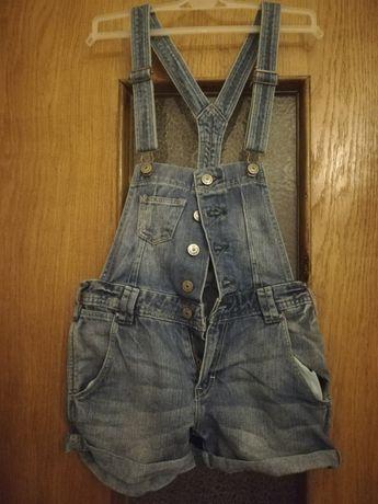 Ogrodniczki 34 XS h&m jeans dżins denim