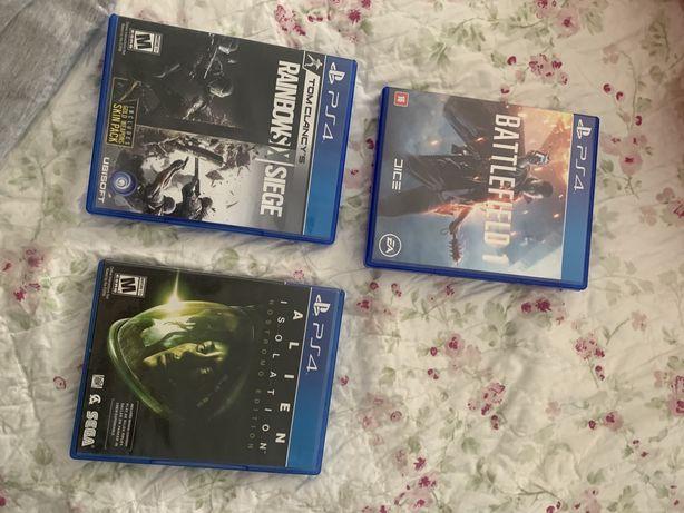 Battlefield 1, Rainbow Six Siege e Alien Isolation PS4