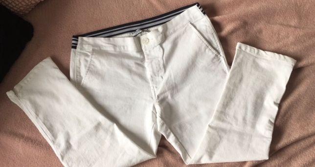 Biale spodnie 7/8 rybaczki Tom& Rose r. 40