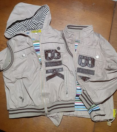 Комплект: куртка і безрукавка для хлопчика 7-8 років