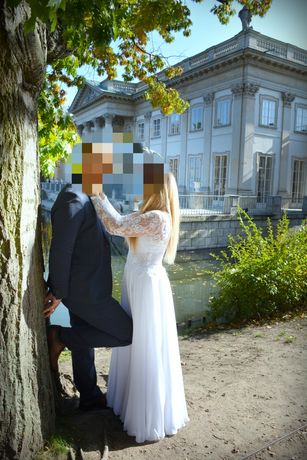 Sprzedam piękną suknię ślubną roz M