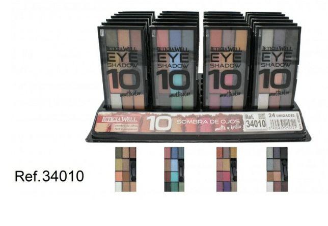 Paleta de sombras com 10 cores