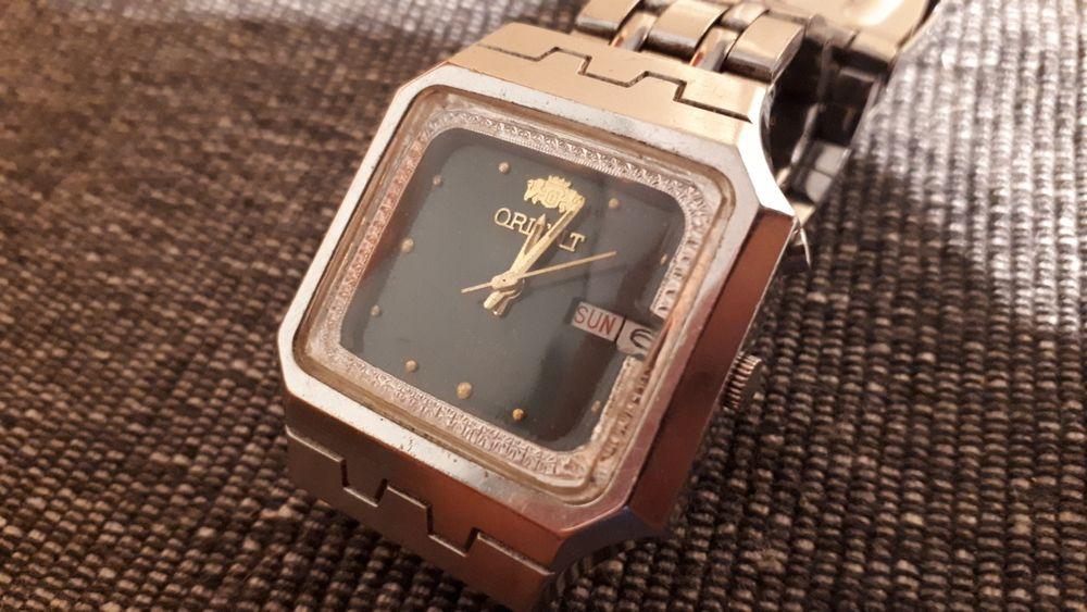 Piękny stary zegarek ORIENT kwadrat automat 21J 46941 Galeria Sztuki Bytom - image 1