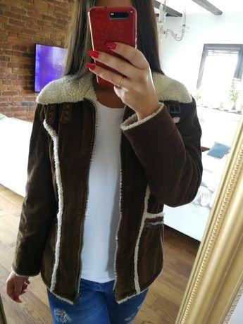 Brązowy kożuszek r. S, kurtka z kożuszkiem