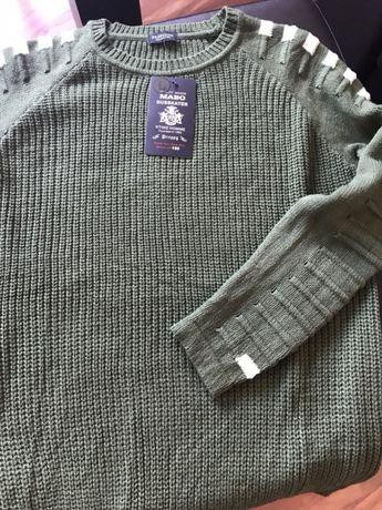 Sweter męski L nowy zieleń