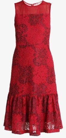 NOWA sukienka 38 koktajlowa Anna Field koronka, z metką, czerwona M