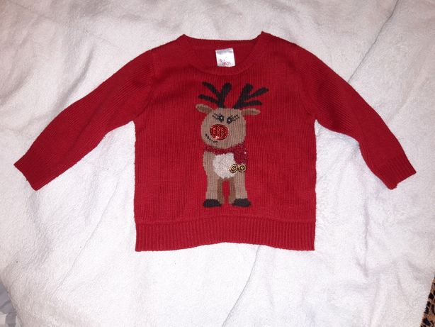 Новогодний, рождественский свитер для девочки 2года