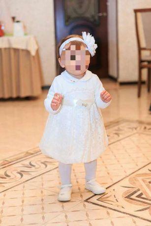 Нарядное платье, колготы, повязка на голову для девочки