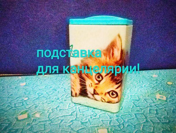 Подставка для канцелярии Котик