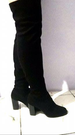 Ботфорты, сапоги чулки, высокие сапоги на каблуке