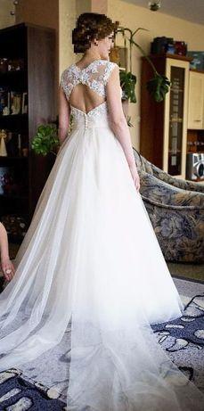Piękna suknia w kolorze szampana z kolekcji Lillian West