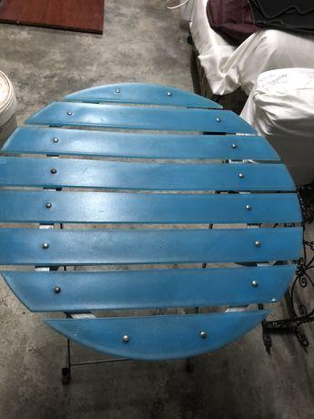 Mesa dobravel redonda c/nova