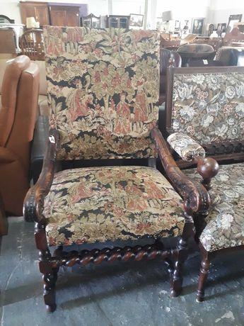 Fotel krzesło tron stary antyk drewniany DOWÓZ
