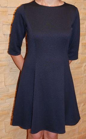 Granatowa, jednoczęściowa sukienka VUBU, rozmiar S/165