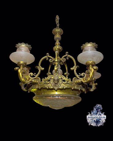 бронзовая антикварная люстра винтажная лампа антмкварный светильник