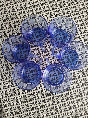 Komplet 6 szklanek kolorowe szkło