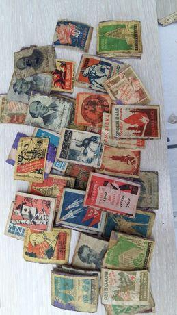 Наклейки от спичечных коробок СССР