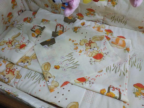 Постельный комплект для манежа с подушкой и одеялом