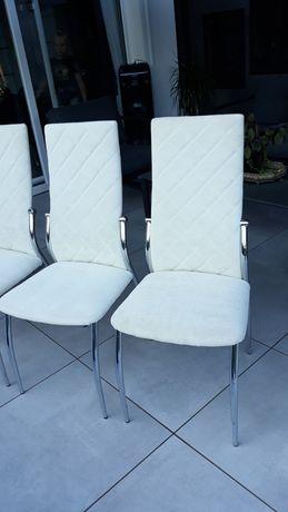 Krzesła 4 sztuki ecri/złamana biel