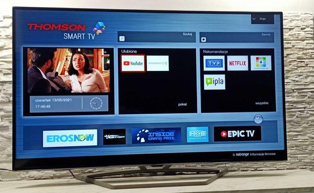 65 Cali Telewizor THOMSON LED 3D 4K SMART TV DVB-T2 DVB-S2+Uchwyt+Hdmi