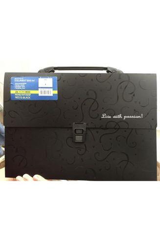Портфель BuroMax пластик А4 35 мм Fashion BM.3718-01