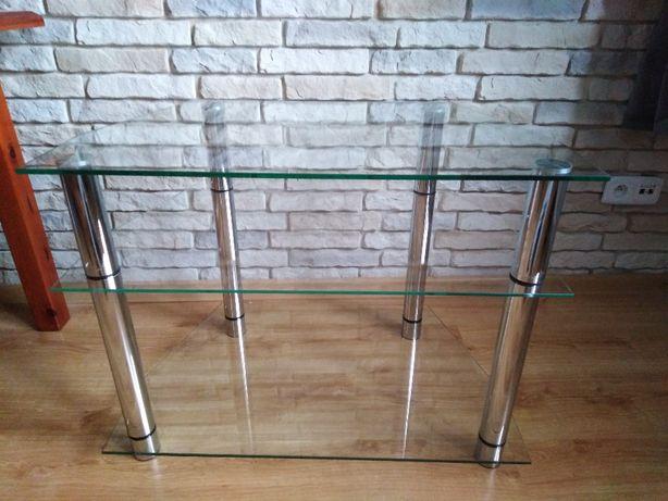 stolik pod telewizor tv do kina domowego szklany telewizyjny
