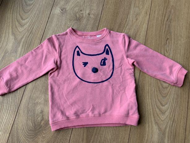 Zara bluza 86 cm rozowa