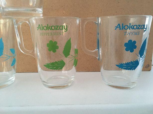 "Чашка стеклянная 320мл ""Alokozay"" 2 штуки разных"