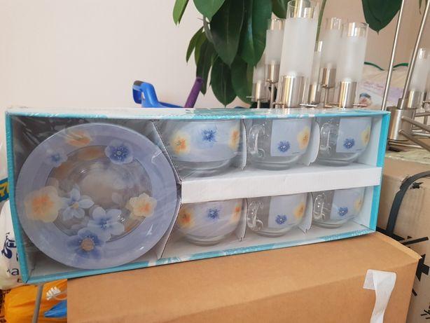 Чашки с блюдцами  Luminarc Poeme Bleu